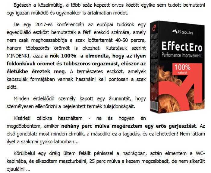 tabletták, amelyek növelik az erekció idejét