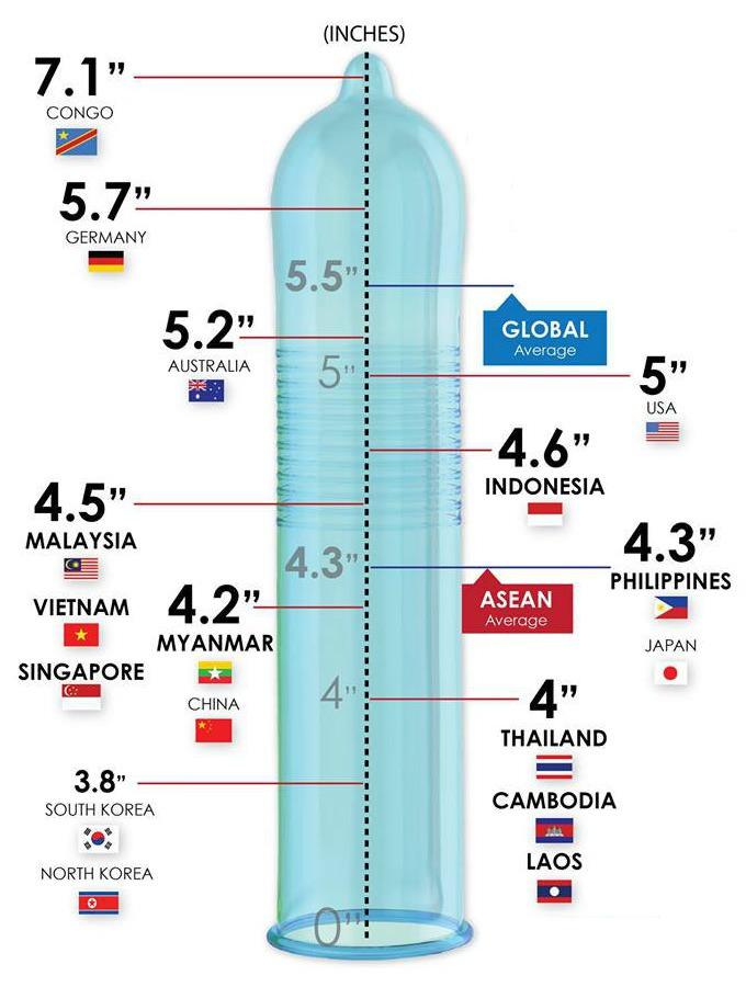 Egyetlen grafikon megmutatja, mekkorák a péniszek a világ körül